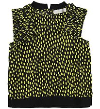 Stella McCartney Kids Top - Sort m. Gule Prikker/Flæser