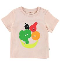 Stella McCartney Kids T-shirt - Rosa m. Frugt & Grønt