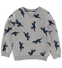 Paul Smith Junior Sweatshirt - Thompson - Gråmeleret m. Dinosaur