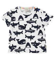 Paul Smith Baby T-shirt - Tulio - Hvid m. Havets Dyr