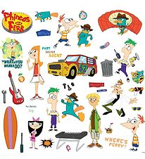 Room Mates Wallstickers - Phineas & Ferb