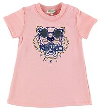 Kenzo Sweat T-shirt - Lys Rosa m. Tiger