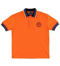 Young Versace Polo - Orange m. Medusa
