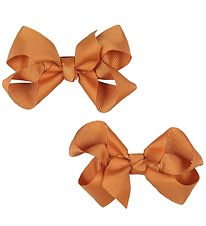 Bows By Stær Hårsløjfe - 2-pak - 8 cm - Varm Orange