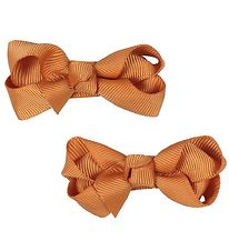 Bows By Stær Hårsløjfe - 2-pak - 6 cm - Varm Orange