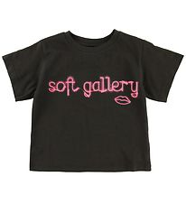 Soft Gallery T-shirt - Dominique - Neon lips
