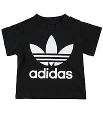 adidas Originals T-shirt - Trefoil - Sort m. Logo
