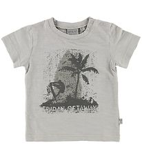 Wheat T-shirt - Light Grey m. Surfer