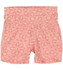 Small Rags Shorts - Rosa m. Blomster