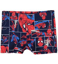 Speedo Badeshorts - Aquasport - Sort m. Spiderman