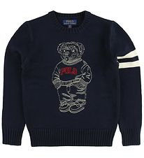 Polo Ralph Lauren Sweater - Navy m. Bamse