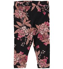 Petit by Sofie Schnoor Leggings - Sort m. Blomster