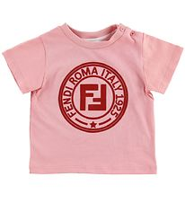 Fendi Kids T-shirt - Rosa m. Logo