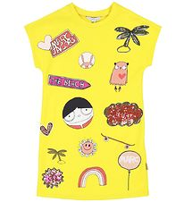 Little Marc Jacobs Kjole - Gul m. Print/Pailletter