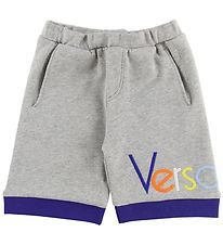 Young Versace Shorts - Sweat - Gråmeleret m. Tekst