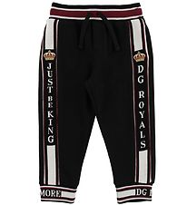 Dolce & Gabbana Sweatpants - Sort m. Logo