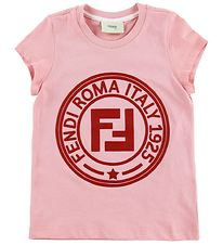 Fendi Kids T-shirt - Rosa m. Rød