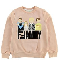 Fendi Kids Sweatshirt - Pudder m. Fendi Family