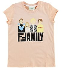 Fendi Kids T-shirt - Pudder m. Fendi Family