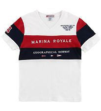 Geographical Norway T-shirt - Jartimi - Hvid m. Print