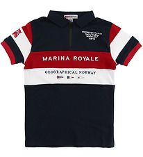 Geographical Norway Polo - Kartimi - Navy m. Print
