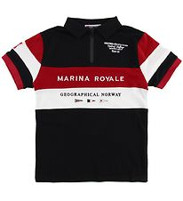 Geographical Norway Polo - Kartimi - Sort m. Print