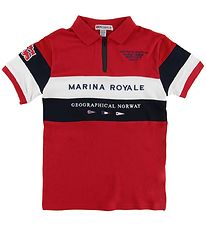 Geographical Norway Polo - Kartimi - Rød m. Print