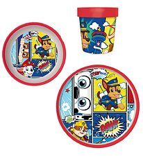 Paw Patrol Spisesæt - 3 Dele - Marshall, Rubble & Chase
