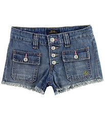 Polo Ralph Lauren Shorts - Denim - Blå m. Knapper