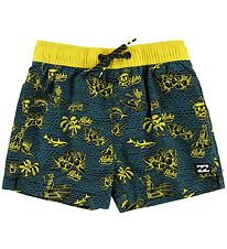 Billabong Badeshorts - Adventure Island - Sort/Gul