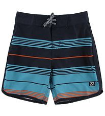 Billabong Badeshorts - 73 Stripe - Navy/Orange