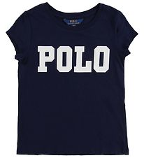 Polo Ralph Lauren T-shirt - Navy m. Tekst