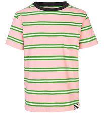 821dfb02 Mads Nørgaard T-shirt - Trolino - Lyserød/Grønstribet