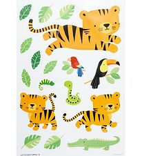 A Little Lovely Company Wallstickers - 35x50 cm - Jungle Tiger