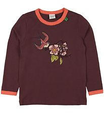 Freds World Bluse - Bordeaux m. Fugl