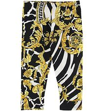 Versace Leggings - Sort m. Guldprint