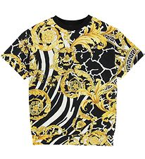 Versace Kjole - Sweat - Sort m. Guldprint