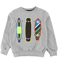 Fendi Sweatshirt - Gråmeleret m. Skateboards
