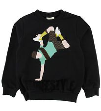 Fendi Sweatshirt - Sort m. Breakdancer