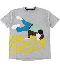 Fendi T-shirt - Gråmeleret m. Breakdancer