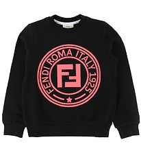 Fendi Sweatshirt - Sort m. Neon Logo