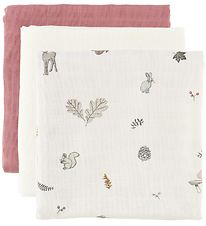 Cam Cam Stofbleer - 3-pak - 70x70 - Mix Fawn/Berry/Creme White