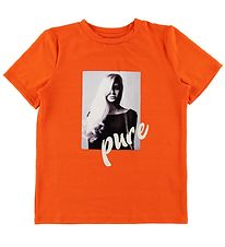 Hound T-shirt - Orange m. Print