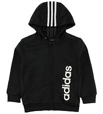 adidas Performance Cardigan - Sort m. Logo