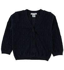 MP Cardigan - Uld/Bomuld - Navy m. Glimmer
