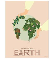 Vissevasse Plakat - 50x70 - I Love Mother Earth