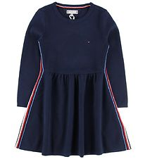 Tommy Hilfiger Kjole - Global Stripe - Navy