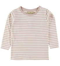Nordic Label Bluse - Pudderrosa/Striber
