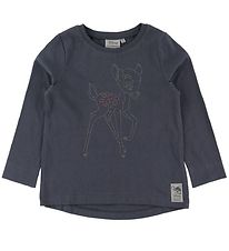 Wheat Disney Bluse - Bambi - Greyblue