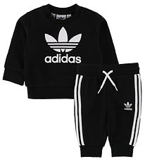 adidas Originals Sweatsæt - Crew - Sort m. Logo